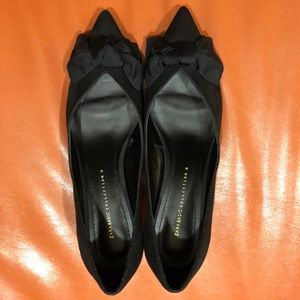 Zara Kitten Heel Bow Pointy Heels